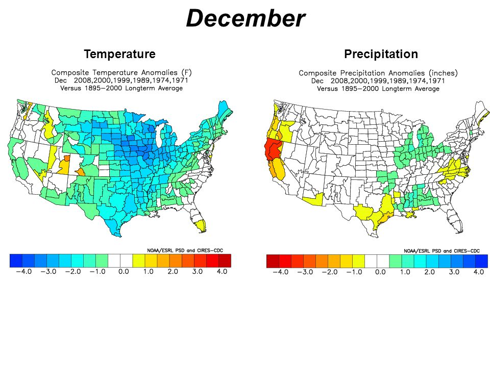 December Temperature Precipitation