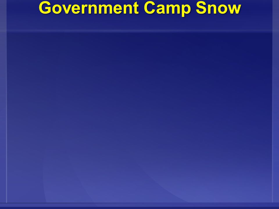 Government Camp Snow