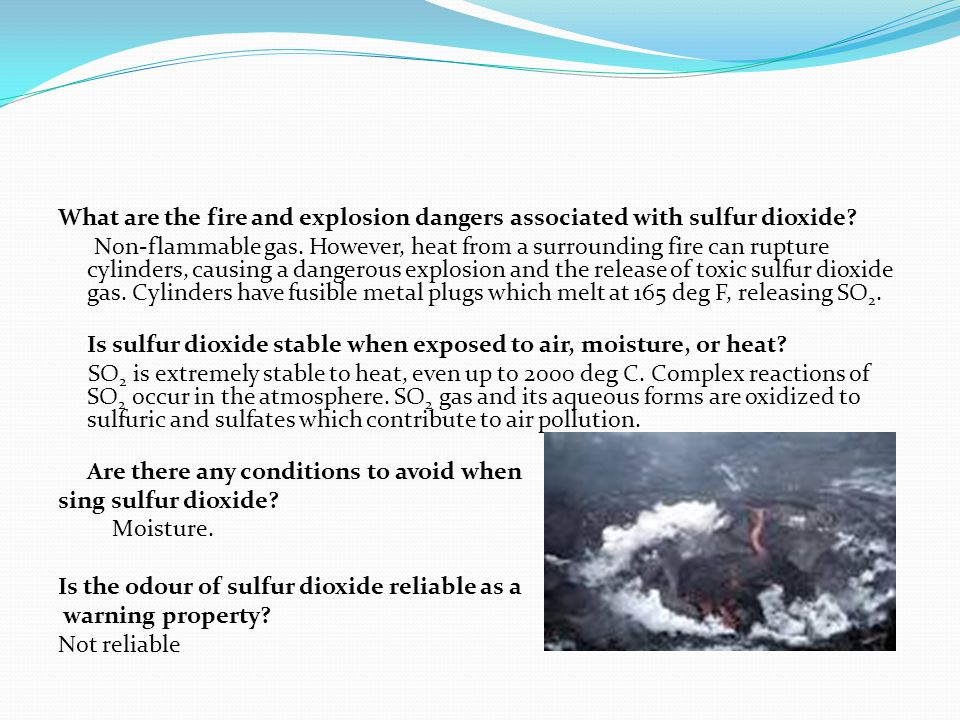 What happens if sulfur dioxide is accidentally swallowed (enters the digestive system).