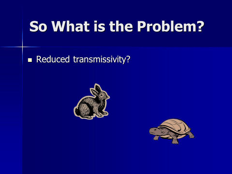 So What is the Problem? Reduced transmissivity? Reduced transmissivity?
