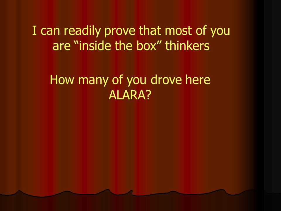 Thinking Inside the Box Lower is always better in here