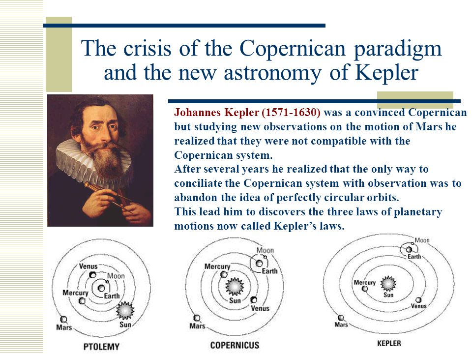 Kepler's three laws 1.Planets moves along elliptical paths with the sun at one focus of the ellipse 2.During a given interval of time a line drawn from the planet to the sun sweeps out an equal area anywhere along its path 3.