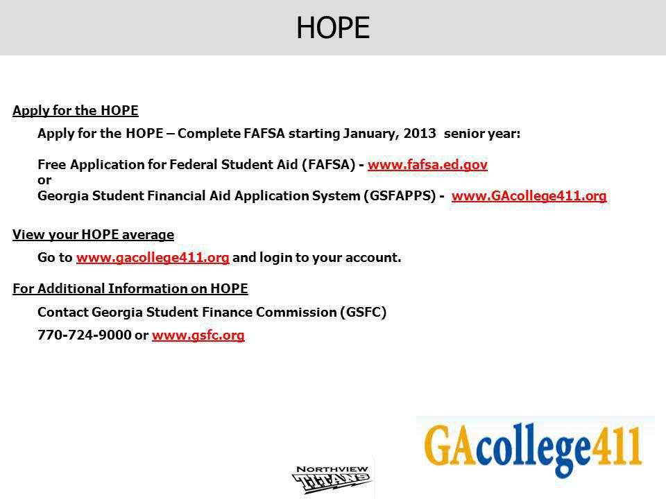 Program changes are available on the www.gacollege411.org websitewww.gacollege411.org