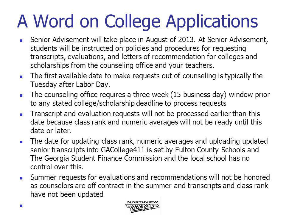 NACAC Ethics The NACAC (National Association of College Admissions Standards) Statement of Principles of Good Practice Mandatory Practices states that… Postsecondary institutions will not establish any application deadlines for first-year candidates for fall admission prior to October 15 and will give equal consideration to all applications received by that date