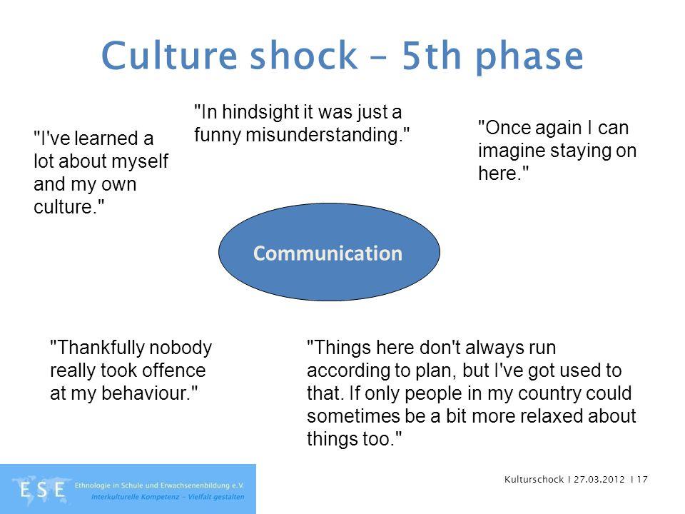 Kulturschock I 27.03.2012 I 17 Culture shock – 5th phase Communication