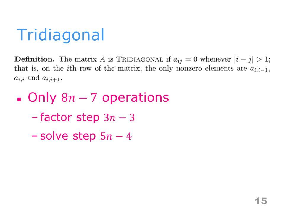 Tridiagonal 15