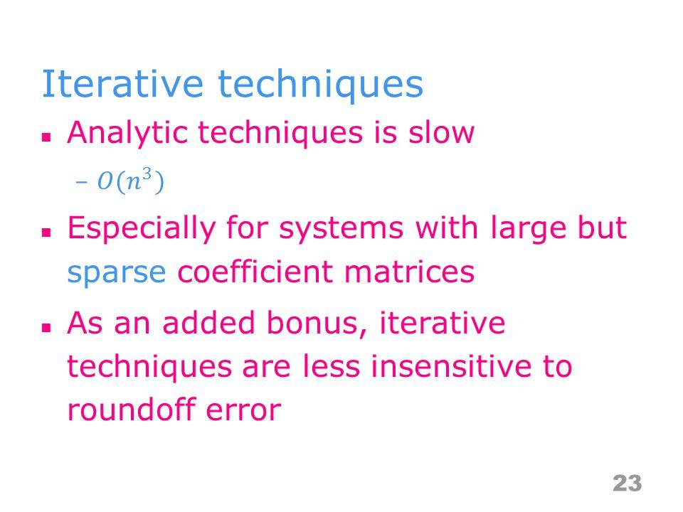 Iterative techniques 23