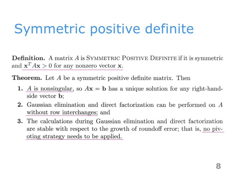 Symmetric positive definite 8