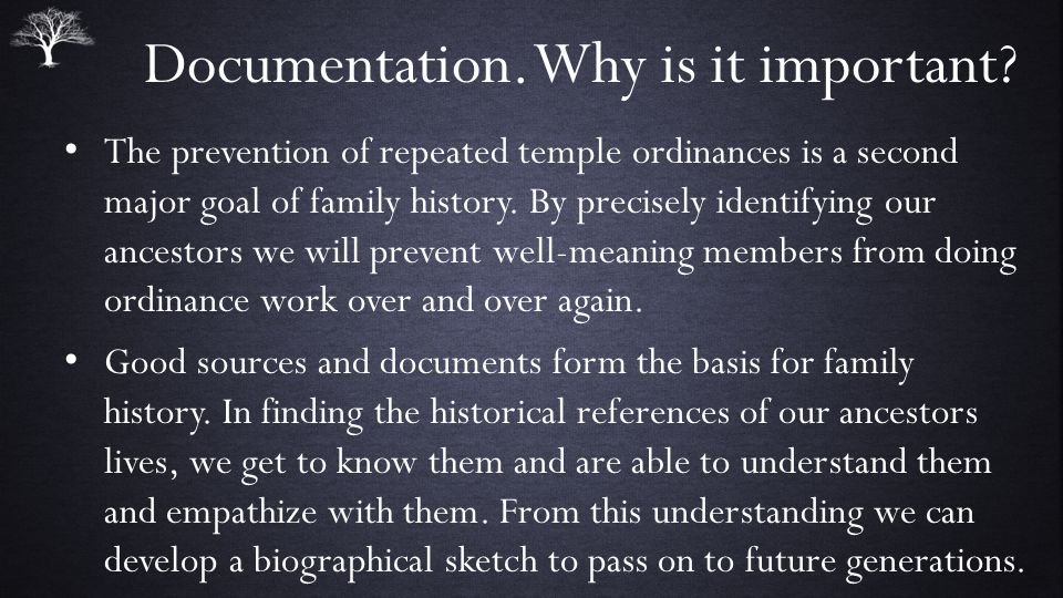 Documentation.Why is it important.