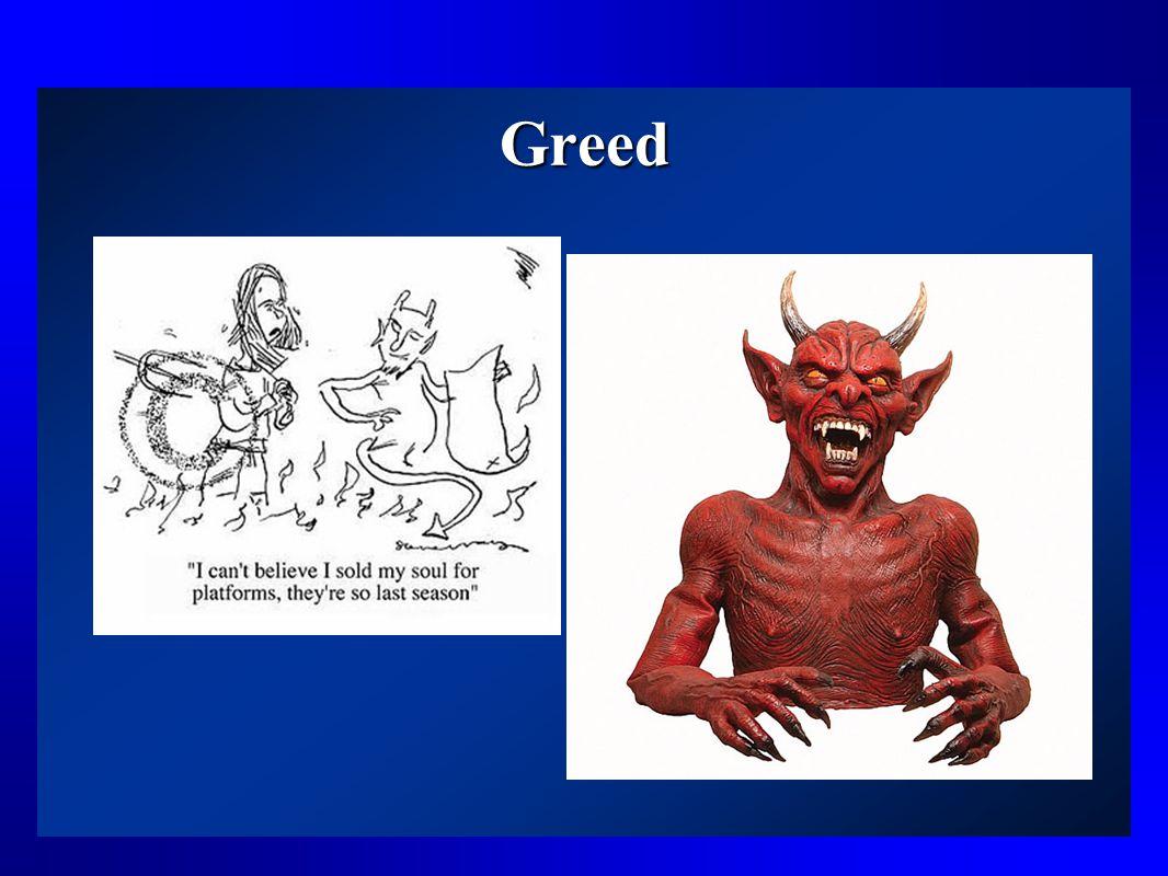 Other Examples of Tom's Character That Add a Comic Effect Greed – charges more interest than even the devil suggests Hypocrisy – has sold soul to the devil but criticizes others for being sinful Miserliness – won't even spend money to feed horses or grease his wagon wheels