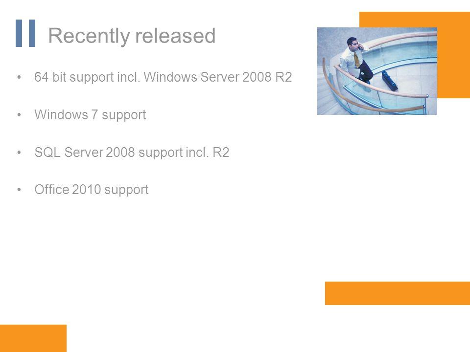 www.orbis-software.com Recently released 64 bit support incl.