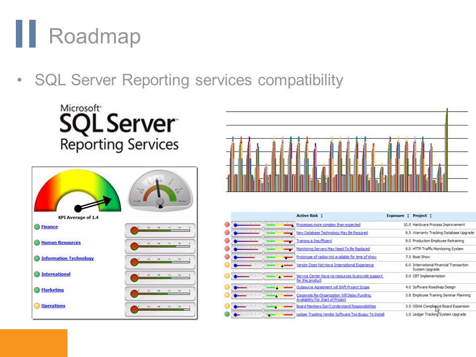 www.orbis-software.com Roadmap SQL Server Reporting services compatibility