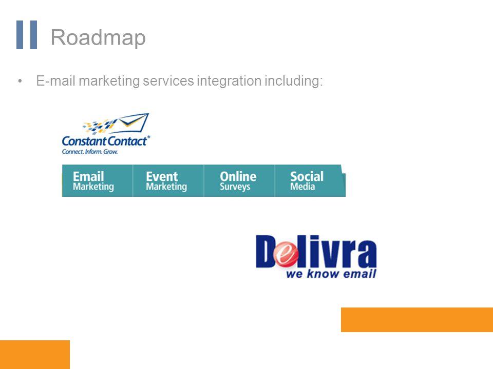 www.orbis-software.com Roadmap E-mail marketing services integration including:
