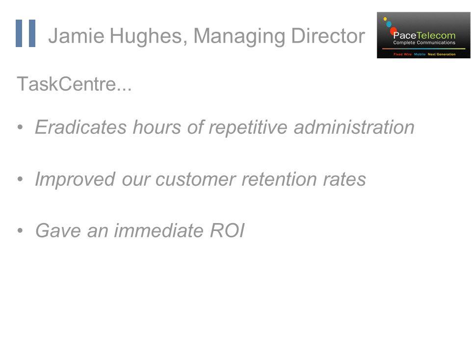 www.orbis-software.com Jamie Hughes, Managing Director TaskCentre...