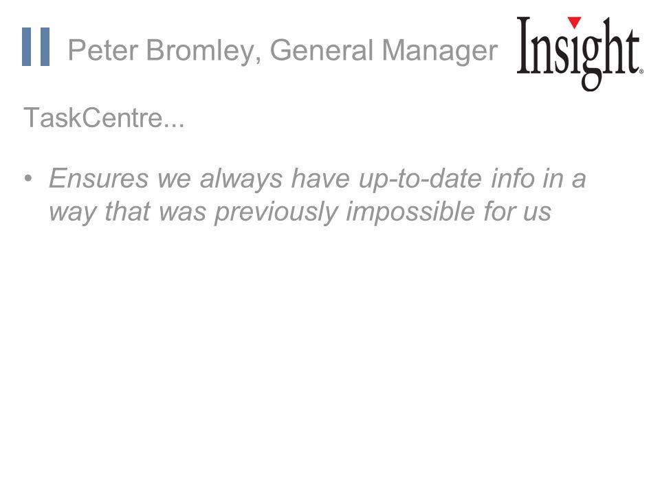 www.orbis-software.com Peter Bromley, General Manager TaskCentre...