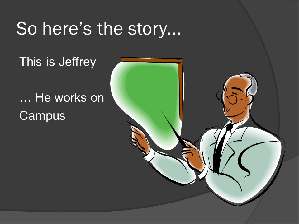 So here's the story… This is Jeffrey