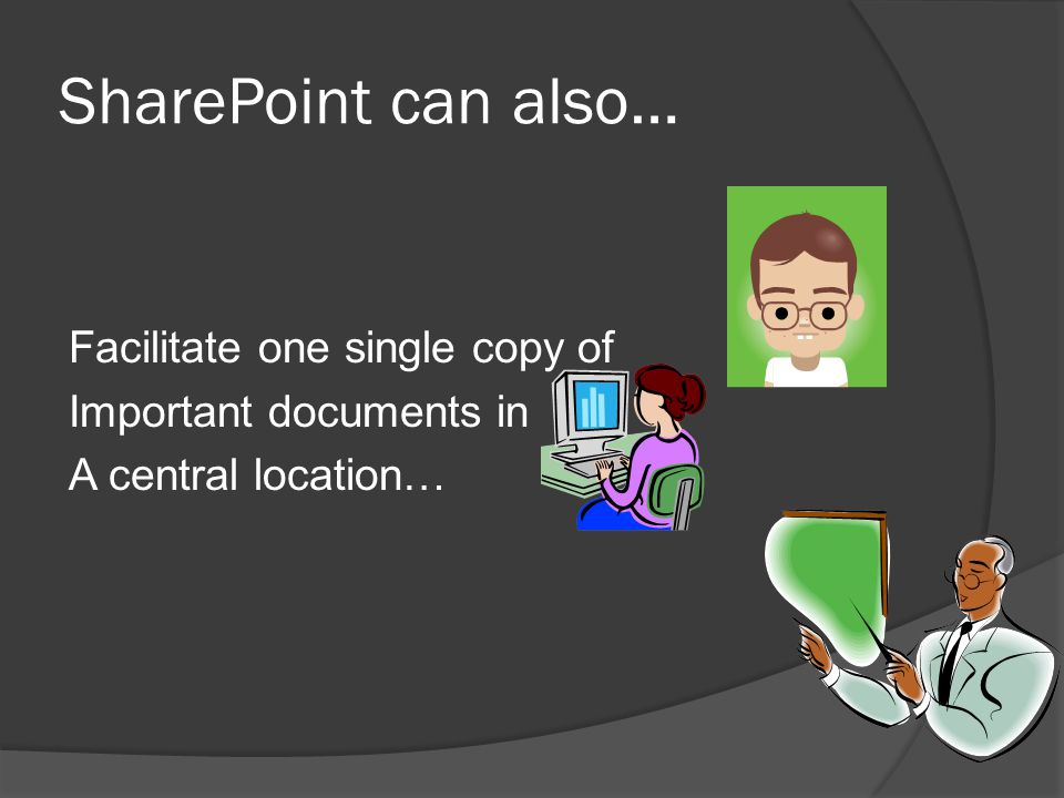 SharePoint can also…