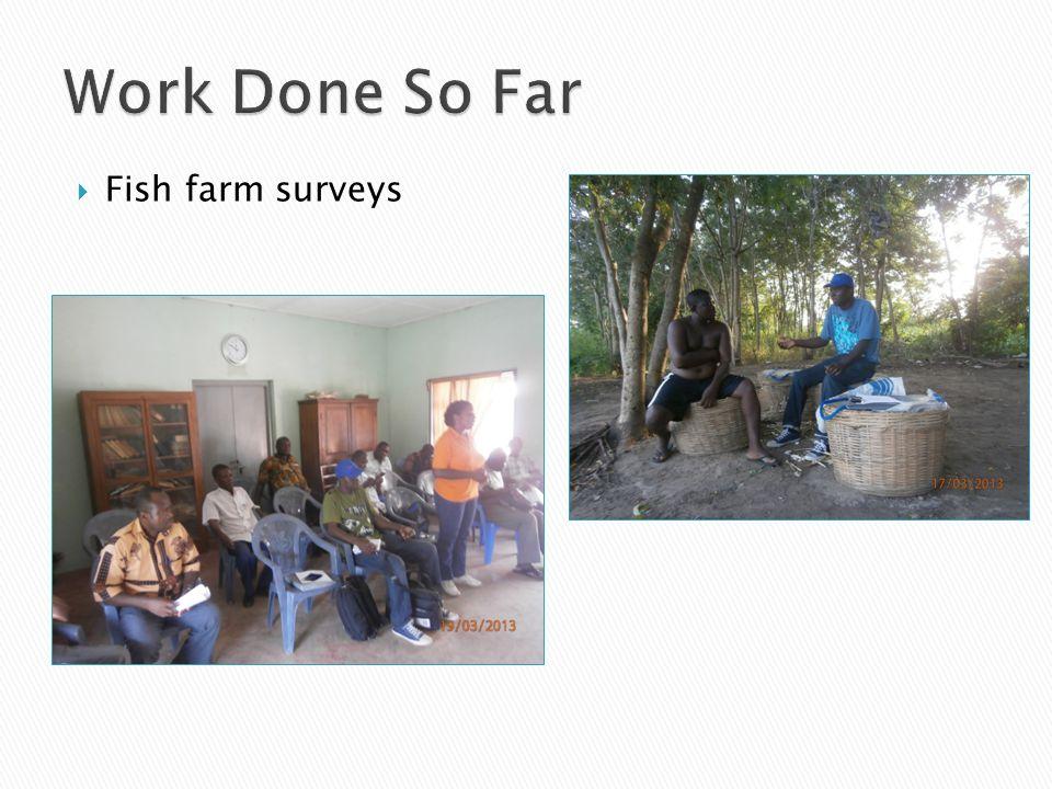 Fish farm surveys