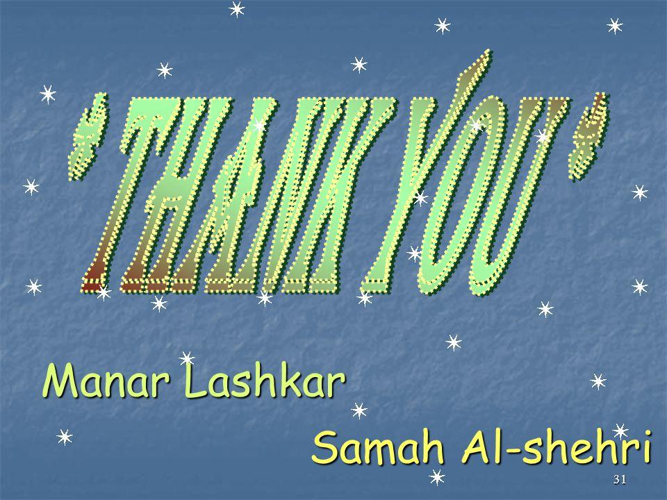 31 Manar Lashkar Samah Al-shehri