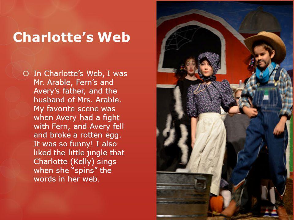 Charlotte's Web  In Charlotte's Web, I was Mr.