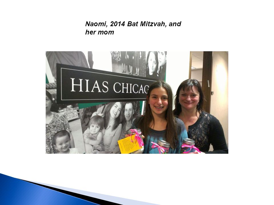 Naomi, 2014 Bat Mitzvah, and her mom