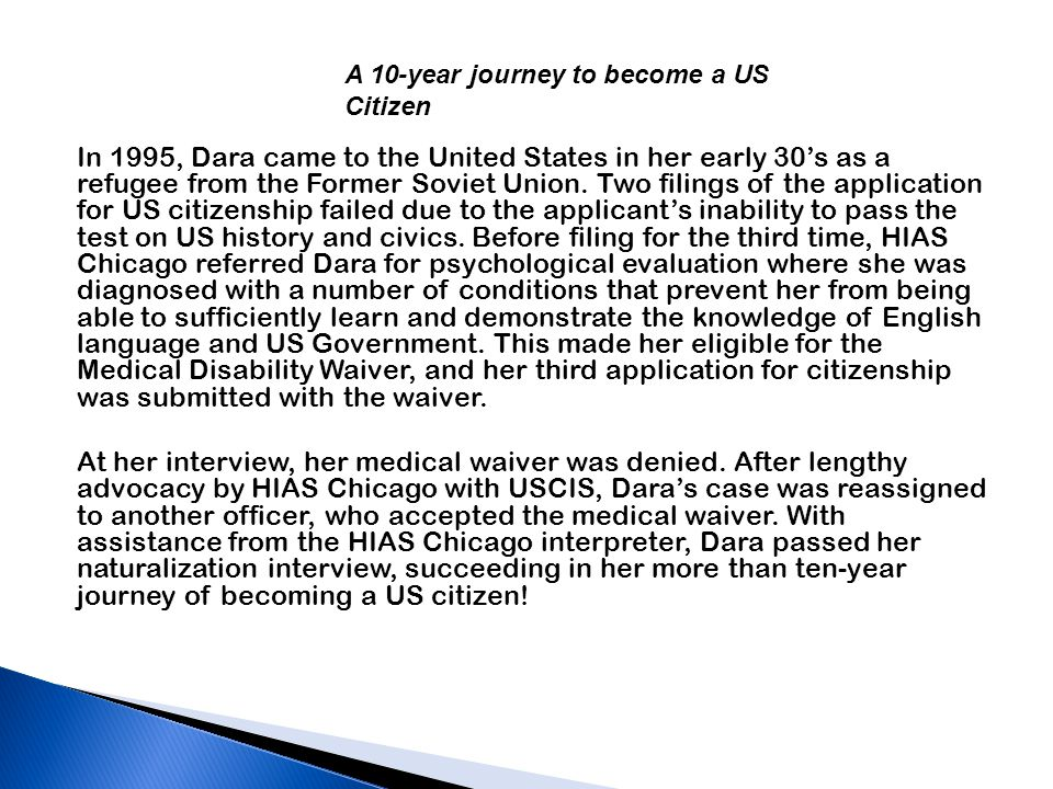 In 1995, Dara came to the United States in her early 30's as a refugee from the Former Soviet Union.