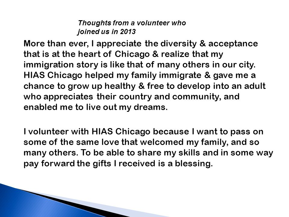 More than ever, I appreciate the diversity & acceptance that is at the heart of Chicago & realize that my immigration story is like that of many others in our city.