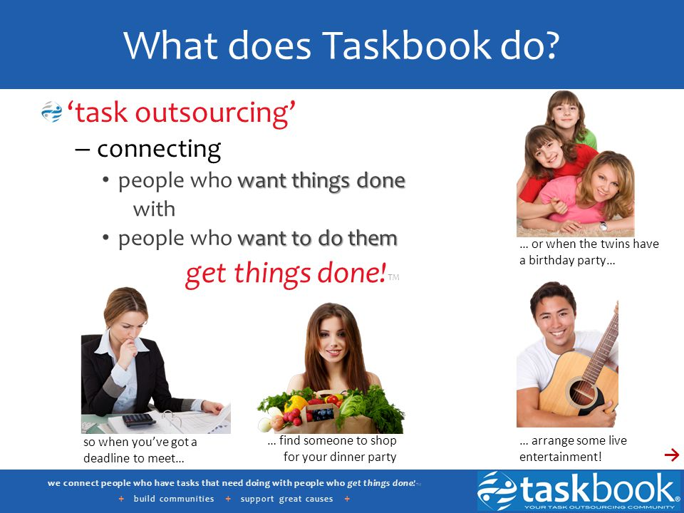 we connect people who have tasks that need doing with people who get things done.