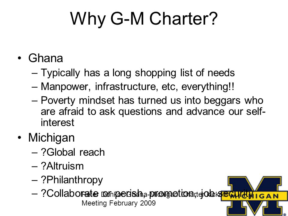 Why G-M Charter.
