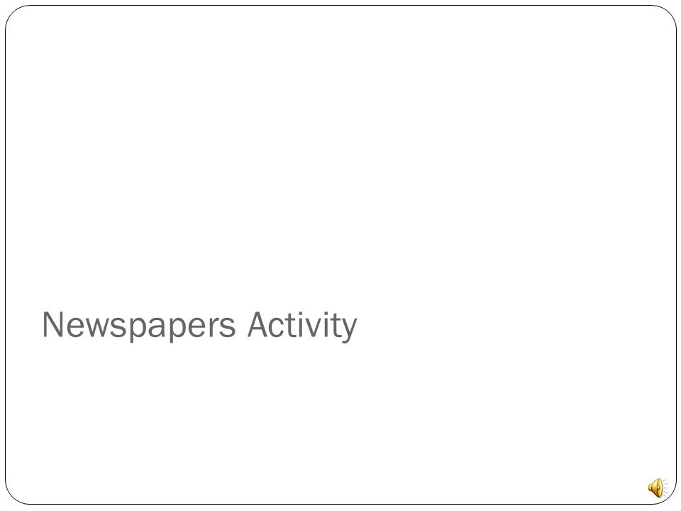 Newspapers Activity