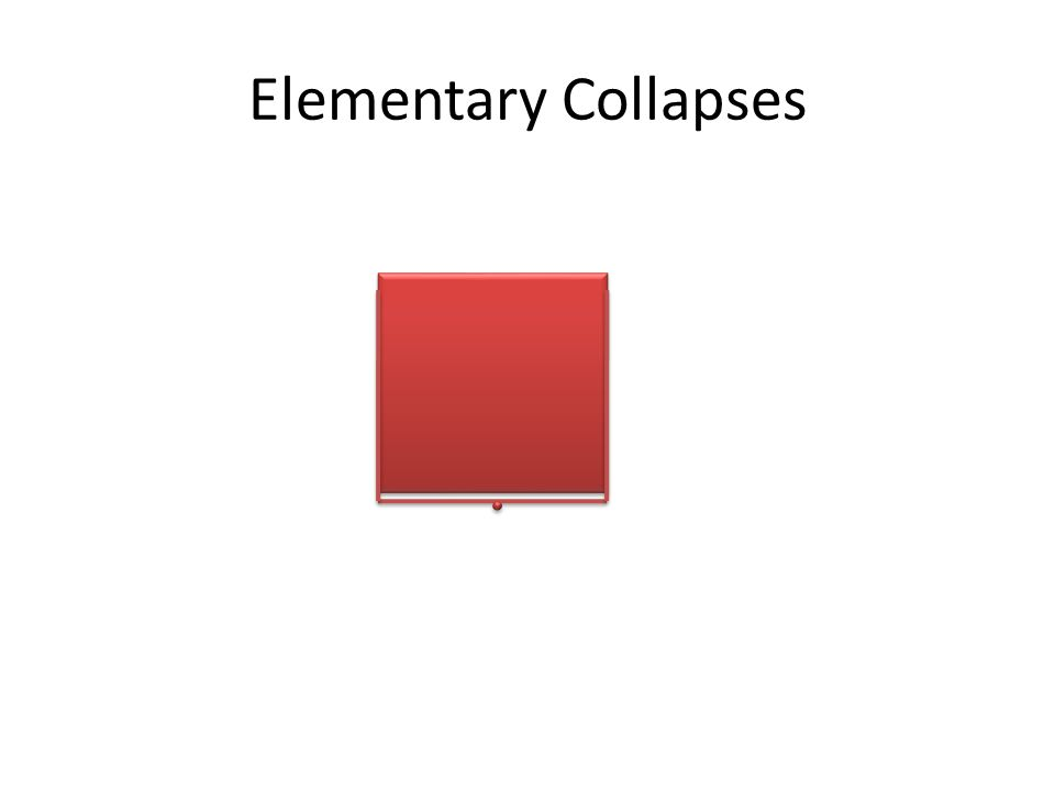Elementary Collapses
