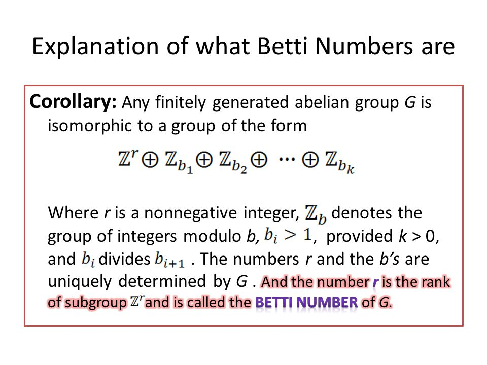 Explanation of what Betti Numbers are
