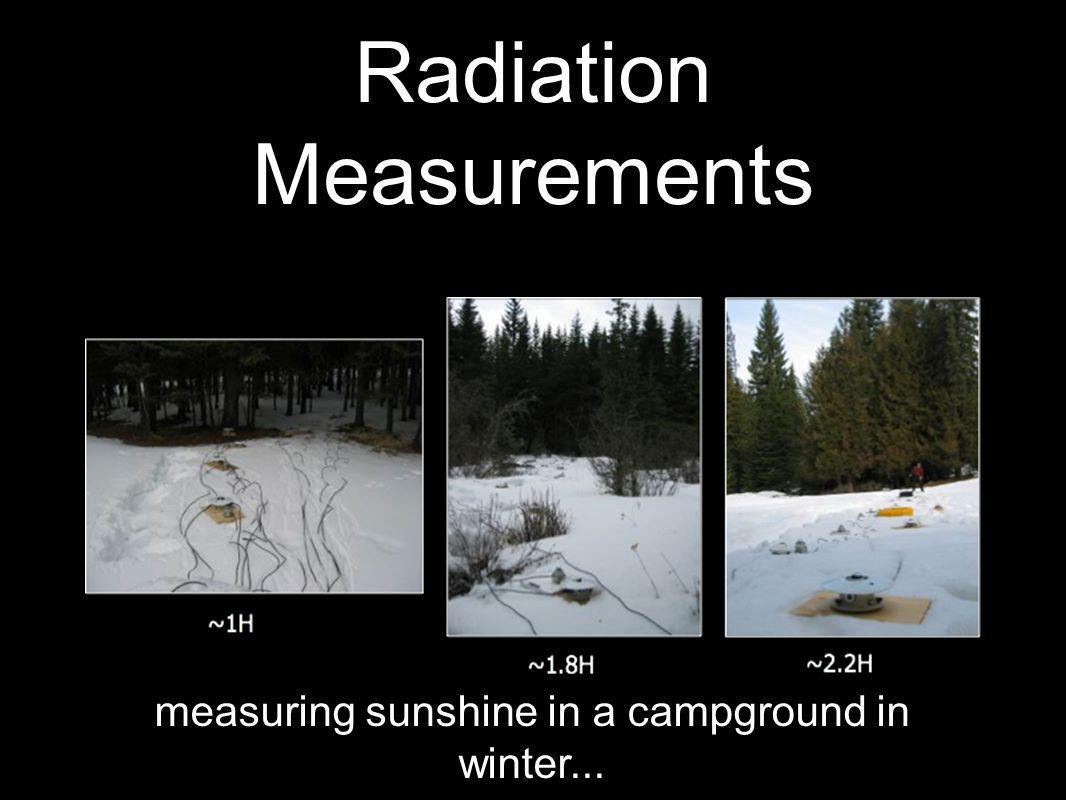 Radiation Measurements measuring sunshine in a campground in winter...