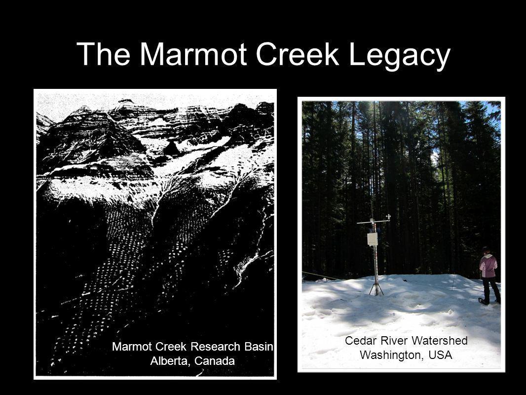 The Marmot Creek Legacy Marmot Creek Research Basin Alberta, Canada Cedar River Watershed Washington, USA Cedar River Watershed Washington, USA