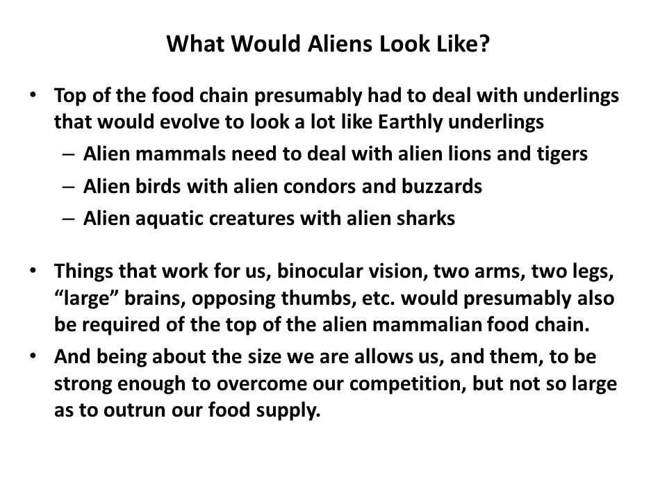 What Would Aliens Look Like.