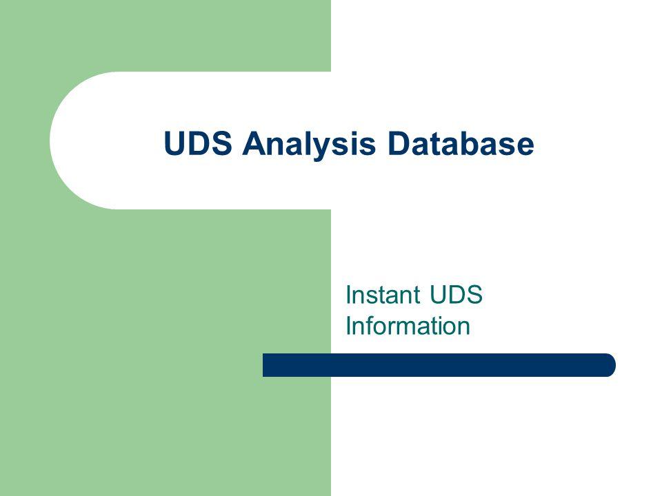 UDS Analysis Database Instant UDS Information