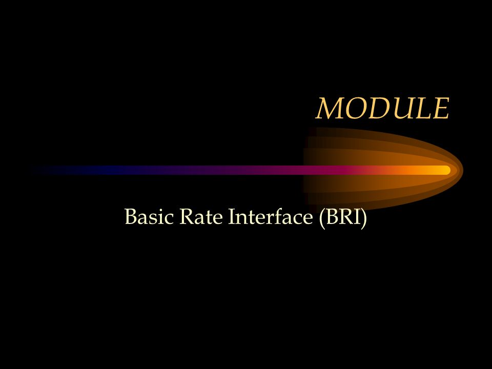 MODULE Basic Rate Interface (BRI)