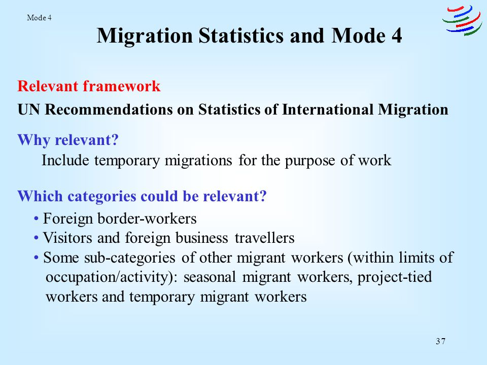 38 Other Possible Sources Statistics on the number and type of work permits granted (e.g.