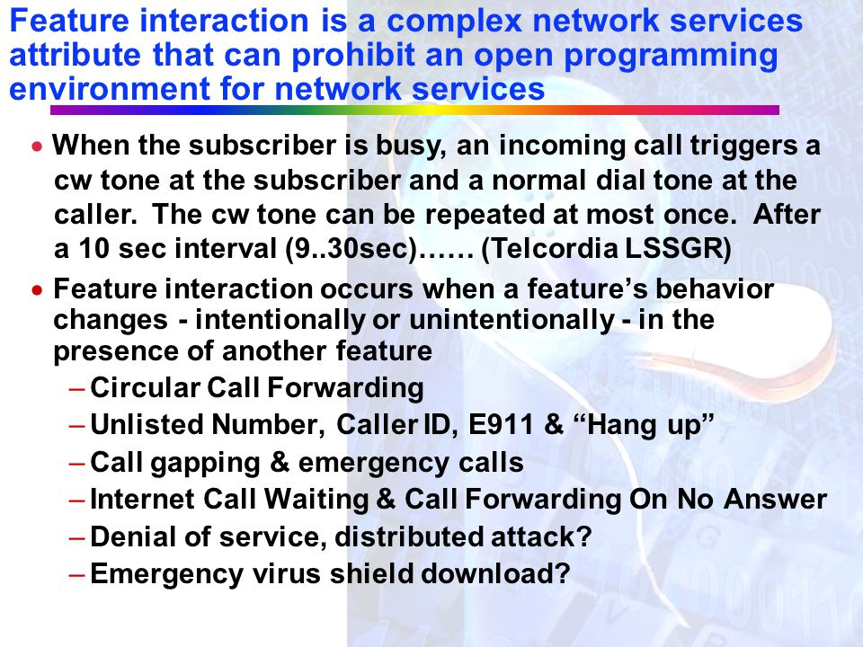 There was not an explosion in network services with AIN - Why Not?  Operations & Tariffing Complexities?  Disparate, Partially Deployed Switch Trigg