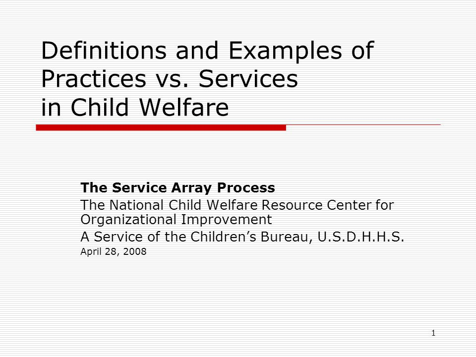 1 Definitions and Examples of Practices vs.