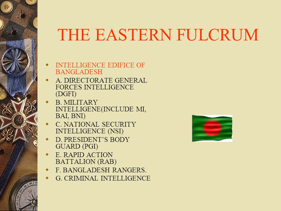 THE EASTERN FULCRUM  INTELLIGENCE EDIFICE OF BANGLADESH  A.