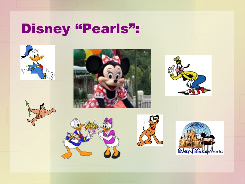 Disney Pearls :