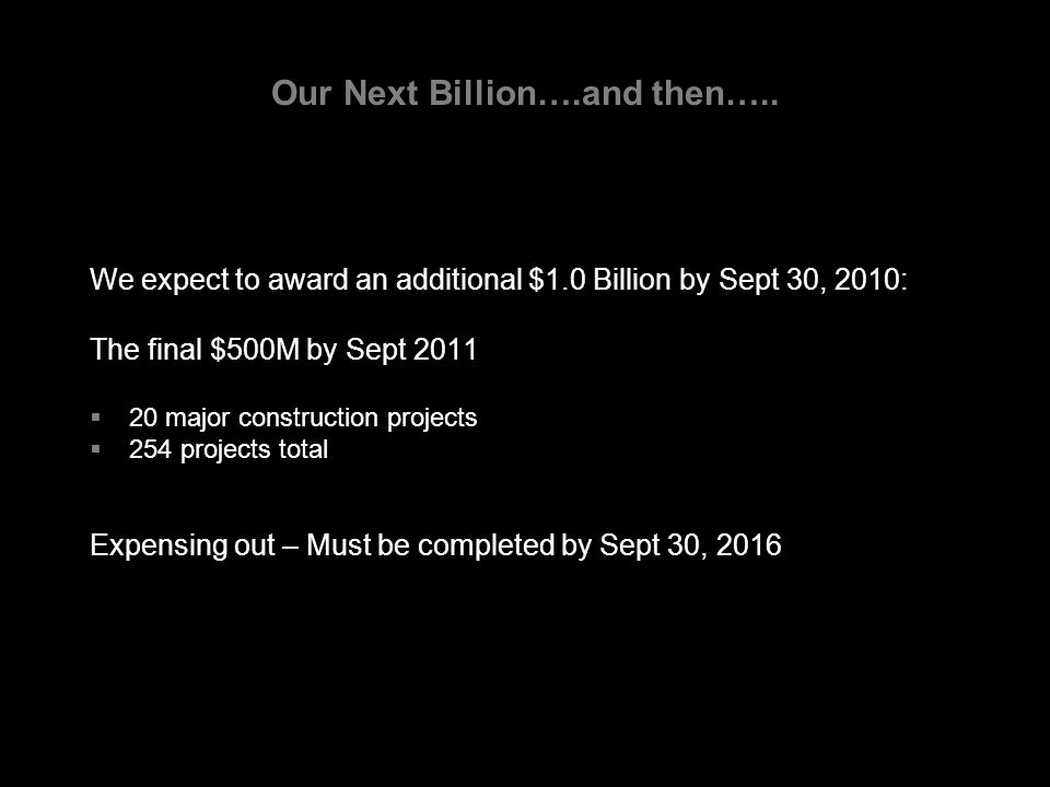 Our Next Billion….and then…..