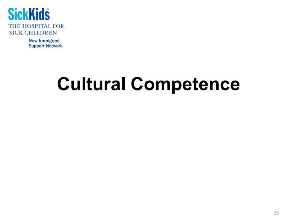 Cultural Competence 35