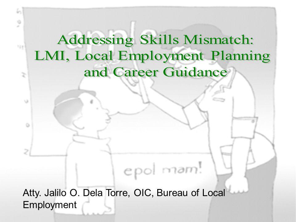Atty. Jalilo O. Dela Torre, OIC, Bureau of Local Employment