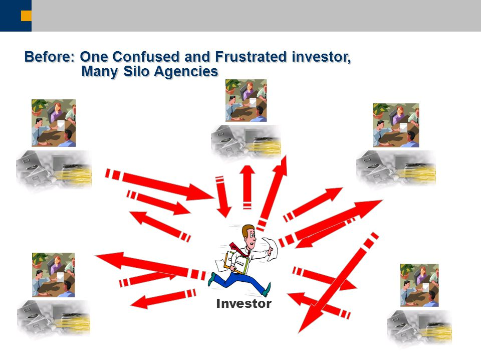 Investor Before: One Confused and Frustrated investor, Many Silo Agencies