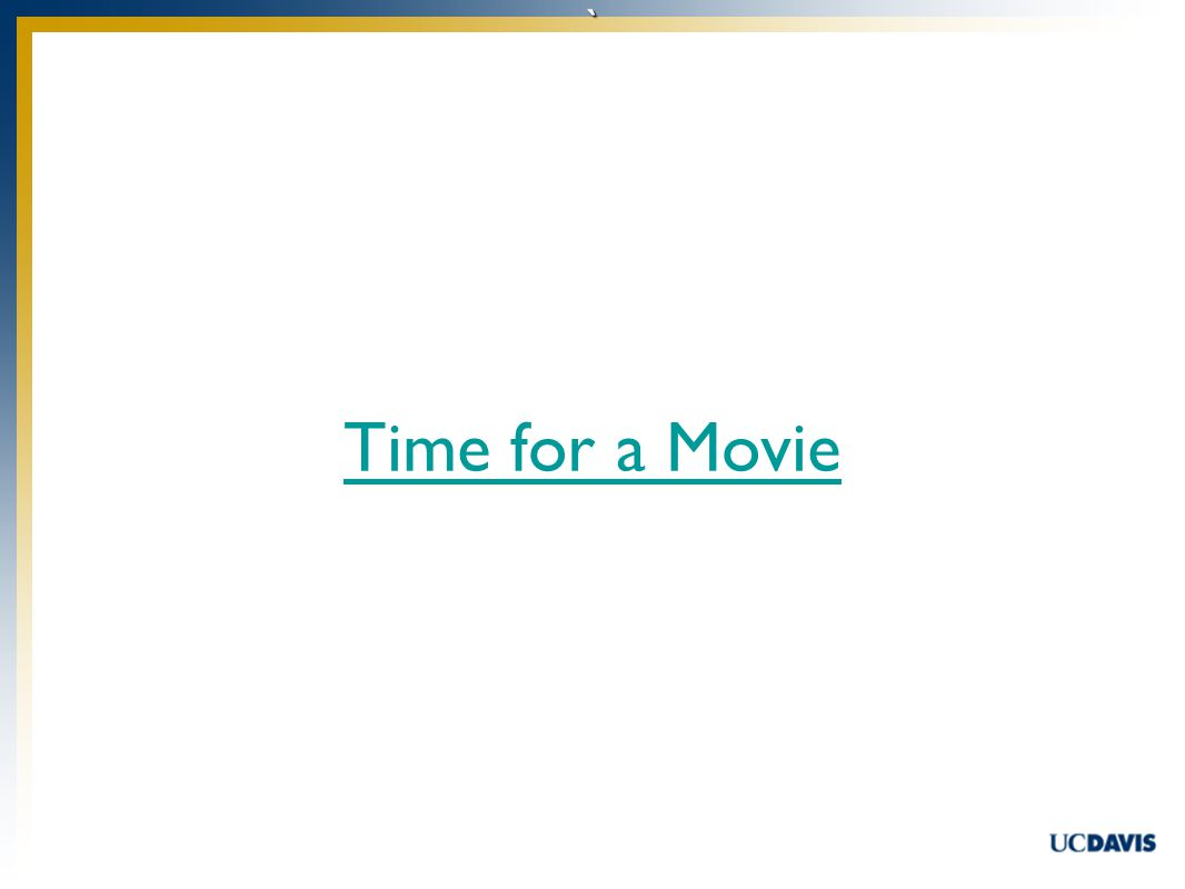 ` Time for a Movie