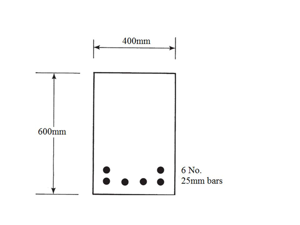 Problem 9-10 The beam shown in Figure next page is made of 28MPa concrete and supports unfactored dead and live loads of 15kN/m and 17kN/m respectively.