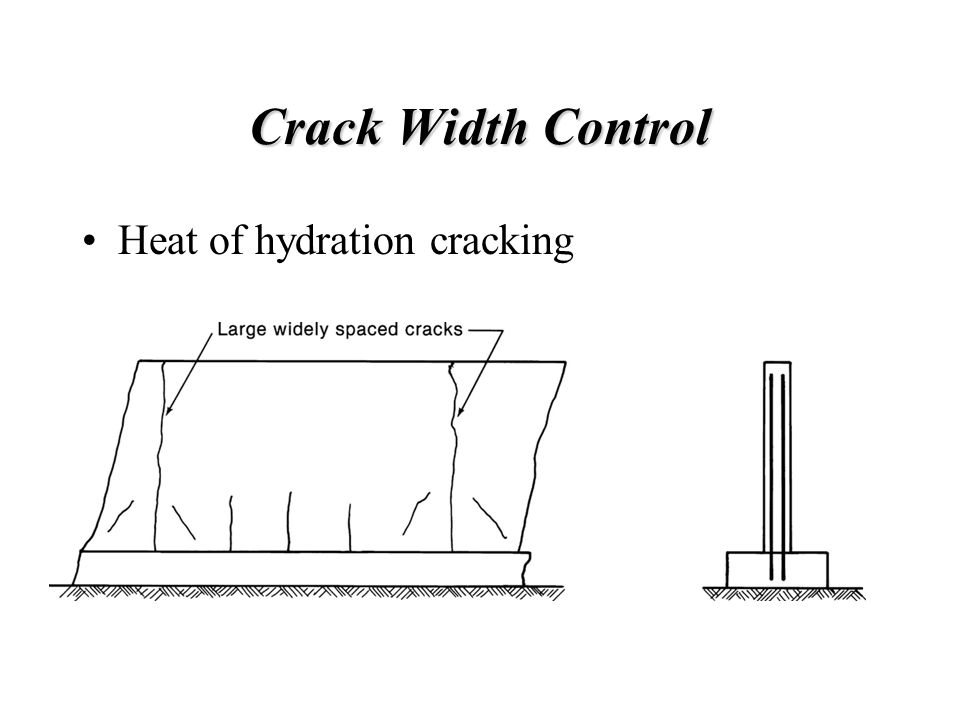 Crack Width Control Heat of hydration cracking