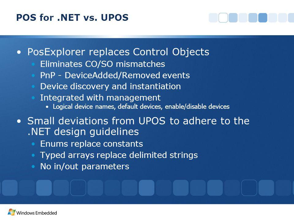 POS for.NET vs.